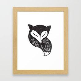 Monsters Fox Framed Art Print