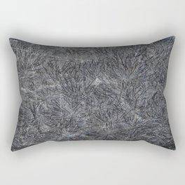 Black Cement and Grass Rectangular Pillow