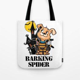 Barking Spider Halloween Design for Dog Lovers Light Tote Bag