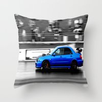 subaru Throw Pillows featuring Subaru Racer by VHS Photography