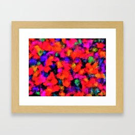 Bright Rainbow Colors Framed Art Print