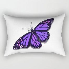 Purple Monarch Butterfly Rectangular Pillow