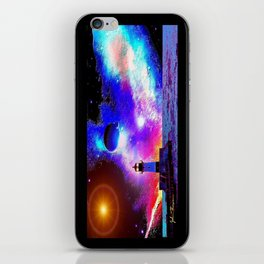 Lighthouse to the stars iPhone Skin