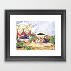 Blackberry Tea Framed Art Print
