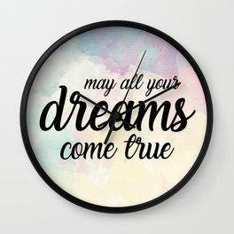 Sundara Dreams Come True Wall Clock