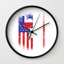 I love Texas Flag Rodeo Cowboy Texans Wall Clock