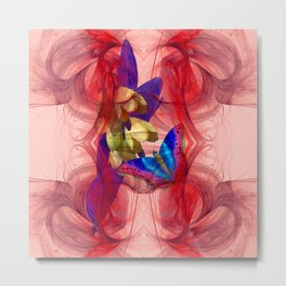 Vibrant butterfly in an alien storm Metal Print