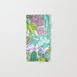Tropical Cactus Pattern Hand & Bath Towel