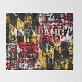 Maryland Flag Print Throw Blanket
