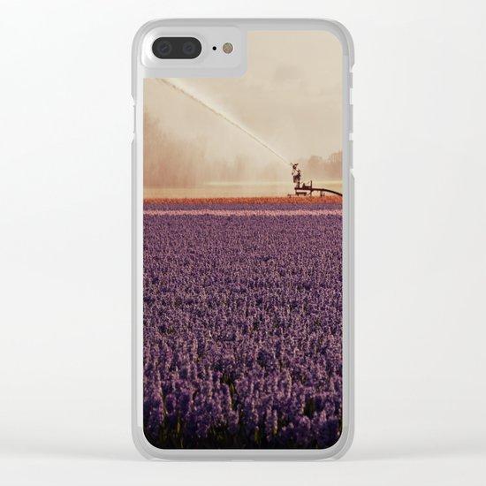 Hyacinth field #3 Clear iPhone Case