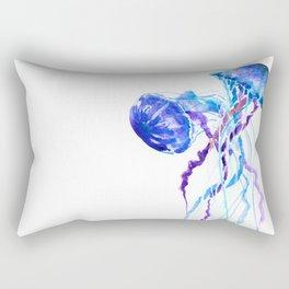 Jellyfish Blue Purple Beach Summer Rectangular Pillow