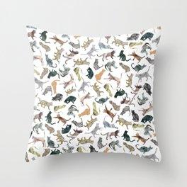 Nature Cats Throw Pillow