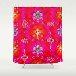 Variations on A Feather IV - Stars Aligned (Firebird Edition) Shower Curtain