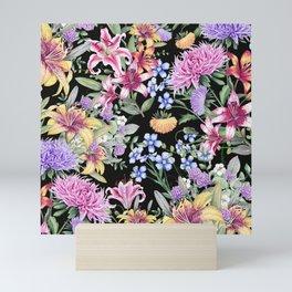 FLORAL GARDEN 3 #floral #flowers #vintage Mini Art Print