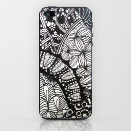 Black and white designe 6 iPhone Skin
