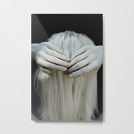 White hair Metal Print