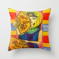 egyptian Throw Pillows featuring Egyptian by DaeChristine