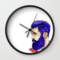 "john snow Wall Clocks featuring ""John"" by MaarjaPB"