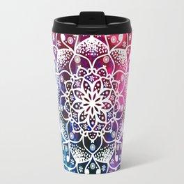 Namaste Red Purple Blue Mandala Travel Mug