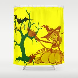 Sassy Little Witch Shower Curtain