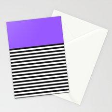 STRIPE COLORBLOCK {PURPLE} Stationery Cards