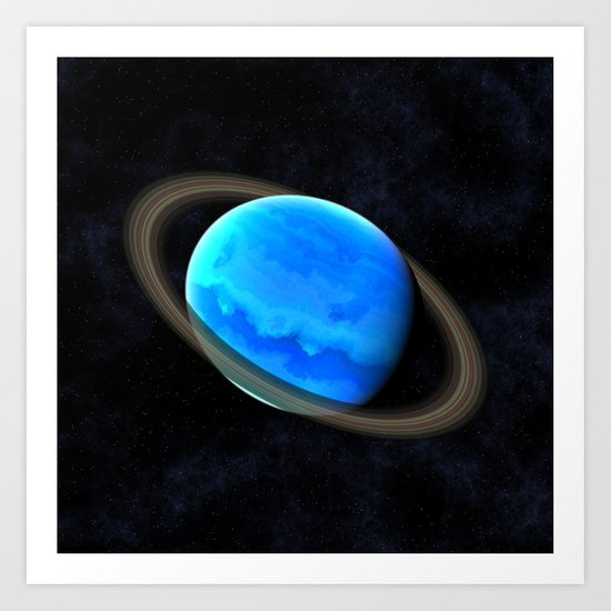 Gas Giant In Space Art Print