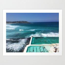 Bondi Icebergs, Sydney, Australia Art Print