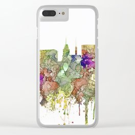 Baltimore, Maryland Skyline SG - Faded Glory Clear iPhone Case