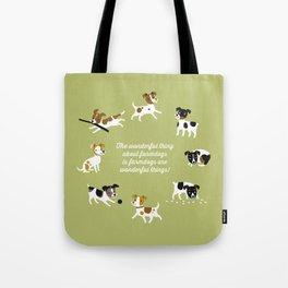 Farmdogs are wonderful things Tote Bag