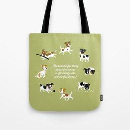 Farmdogs are wonderful things Tote Bag