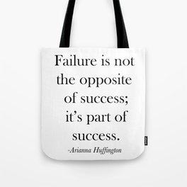 Success Quote Tote Bag