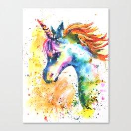 Unicorn Splash Canvas Print