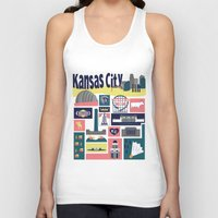 kansas city Tank Tops featuring Kansas City by cwassmer