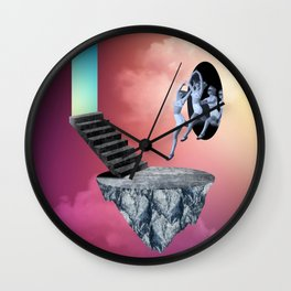 through one into another Wall Clock