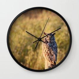 Greathorned Owl Wall Clock