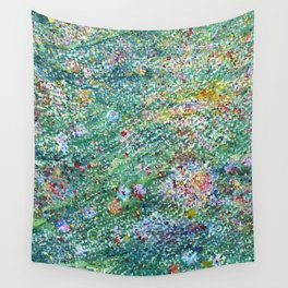 colorful flower filed Wall Tapestry