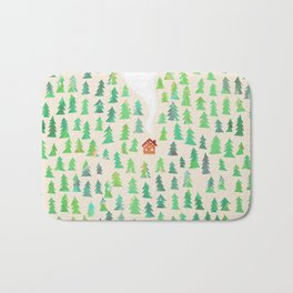 Alone in the woods Bath Mat