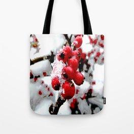 Bright Red Berries Tote Bag