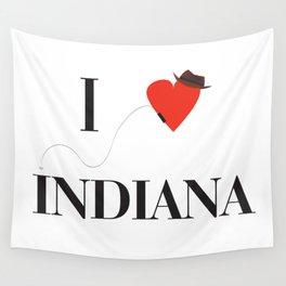 I heart Indiana Wall Tapestry