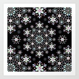 Snowflake Lace Art Print