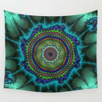 halo Wall Tapestries featuring Fractal Halo by Harvey Warwick