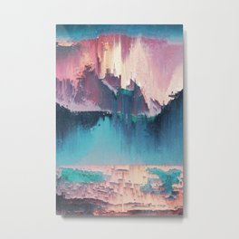 Glitched Landscapes Collection #3 Metal Print