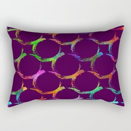 Rainbow mermaid bubble circle brush print Rectangular Pillow