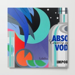 Absolut at Night - Paint Metal Print