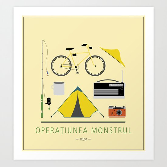 """ROMANIAN MOVIE """"OPERATIUNEA MONSTRUL"""" Art Print"""