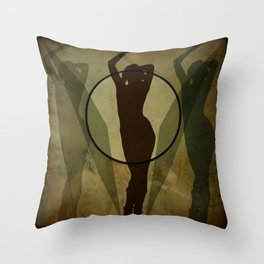 three shadows Throw Pillow