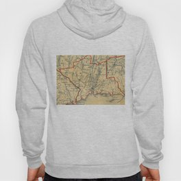 Vintage Map of New Haven County CT (1846) Hoody