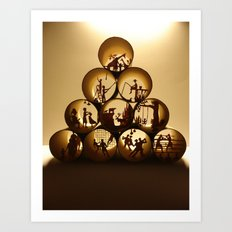 Pyramid of rolls 1 (Pyramide des rouleaux 1) Art Print