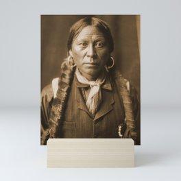 Native American Apache Portrait by Edward Curtis, 1904 Mini Art Print