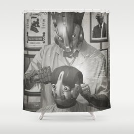 Cyber Barber Shower Curtain